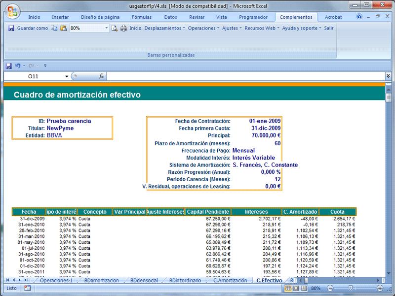 gestor financiero y contable de préstamos y leasing plan general